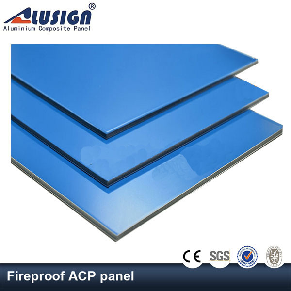 Alusign new style specification fireproof acp sheet for door decoration aluminum composite panel