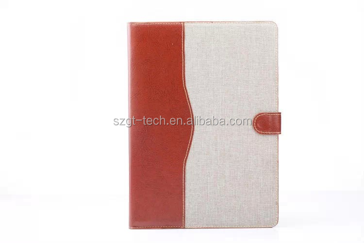 For iPad Air 2 smart cover jean case Dual-color Flip Stand PC PU Leather with Card Slots