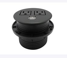 Power grommet with 2 us plugs 2 usb charging ports multifunctional desktop power outlet