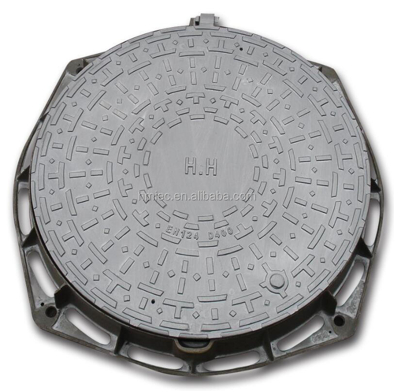 Cast Iron Manhole Cover On Road