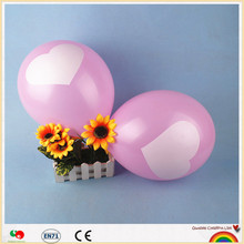 Low MOQ random color 7 inch inflatable helium balloon for party decoration