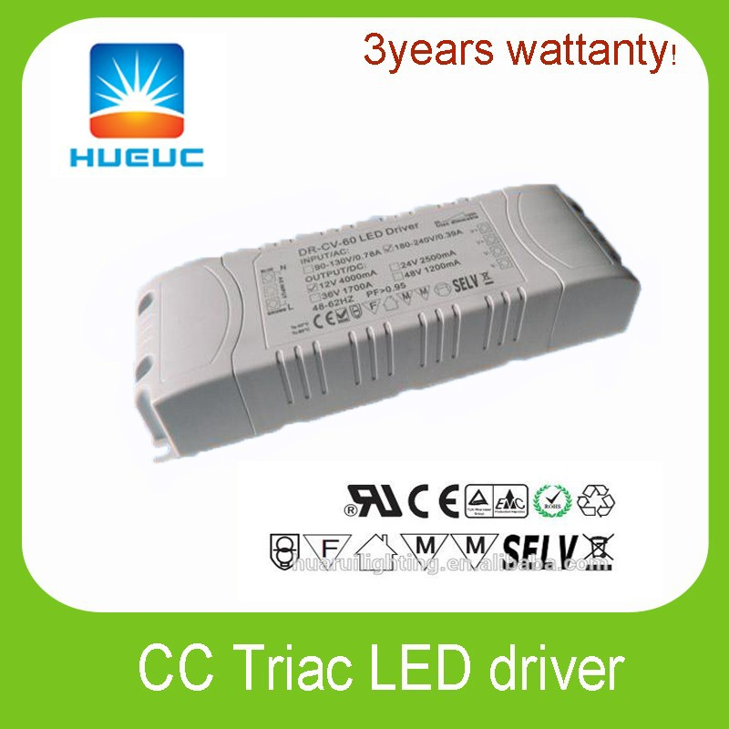 Professional Manufacturer CE Rohs led strip dimmable driver