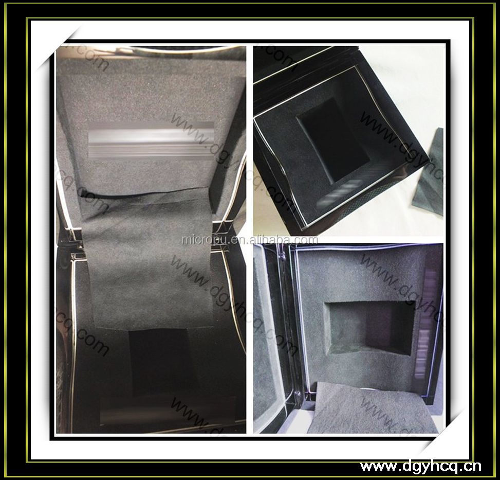 0.5mm--0.6mm thickness microfiber suede material&jewellery box wallet for jewellery box /display cover