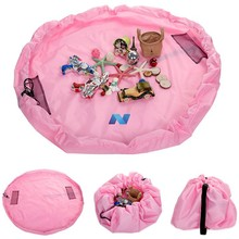 New 150cm Portable Toy Storage Bag and Kids Play Mat Toys Organizer