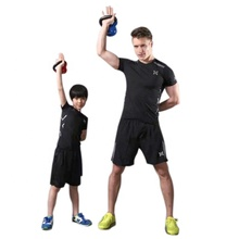 Ptsports wholesale fitness clothing <strong>men</strong> gym wear sets gym jogging Compression tights suit