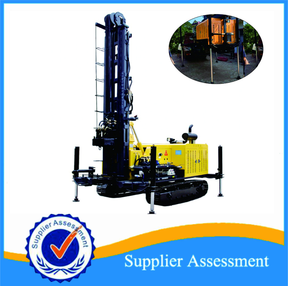 KW30 can be customized Borehole Drilling Machine Water Well Drilling Rig portable crawler mounted water well drilling rig