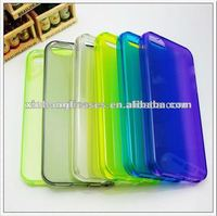 Hot sell crystal clear transparent tpu phone case cover for iPhone 5