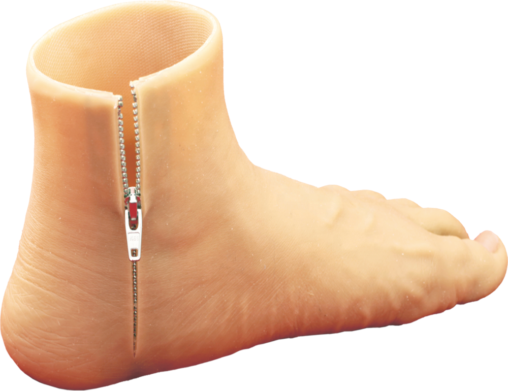 1HS10-Z  Silicone Foot , Residual limb