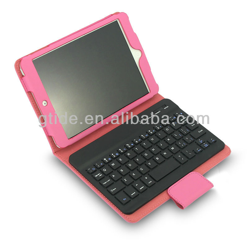 new stylish bluetooth for ipod case leather keyboard
