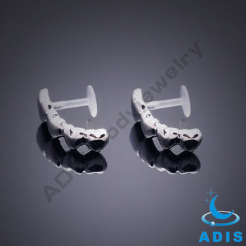 Bio plast stainless steel lip ring jewelry manufacturer
