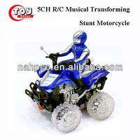 5CH R/C Musical Transforming Stunt Motorcycle