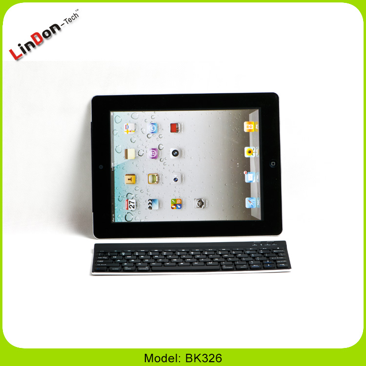 Low price aluminum cover wireless Bluetooth keyboard for iPad Samsung