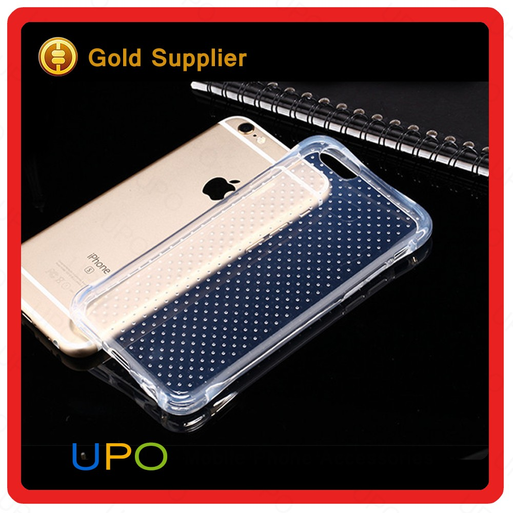 [UPO] Unique Shockproof Slim Crystal Transparent TPU Back Cover Phone Case for iPhone 6