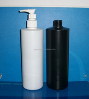 500ml plastic bottle/milk white and black 16oz plastic bottle with lotion pump, white shampoo bottle