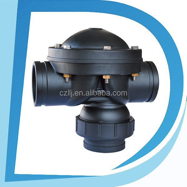 "Easy using DN100 4"" hydraulic solenoid valve for sand filter with plastic injection molding"