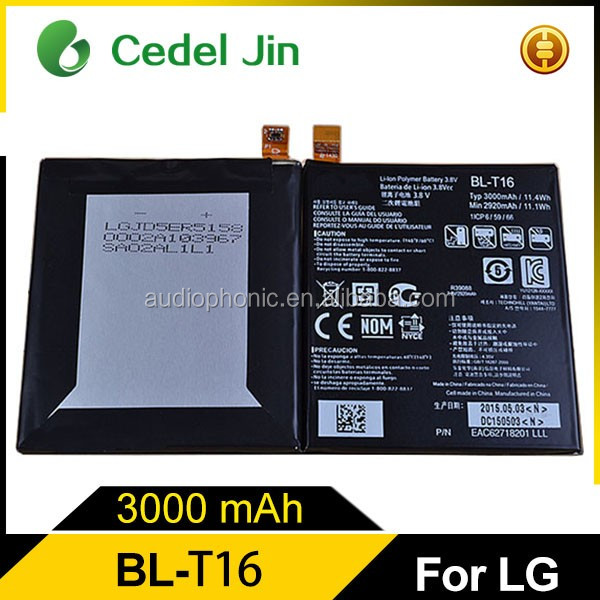 Gb/t 18287-2013 mobile phone battery for LG G Flex 2 H955 BL-T16