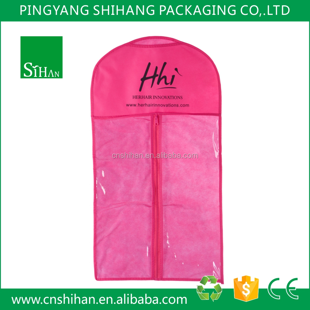 Non woven and PVC Custom Printed Wedding Dress Garment Cloth Bag