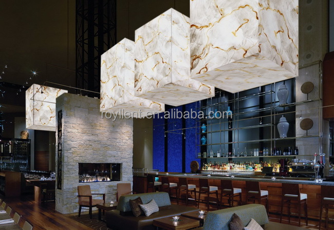 translucent stone panel