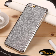 For iphone 6 glitter case, fashion design blinking bumper diamond mobile phone case for iphone 6 6s plus