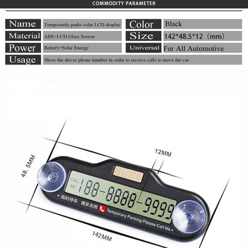 LED parking number card visitor parking number card resident parking permit telephone number