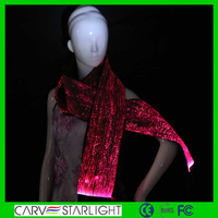 High quality fashion customized led luminous long soft cheap satin scarf and shawl wholesale