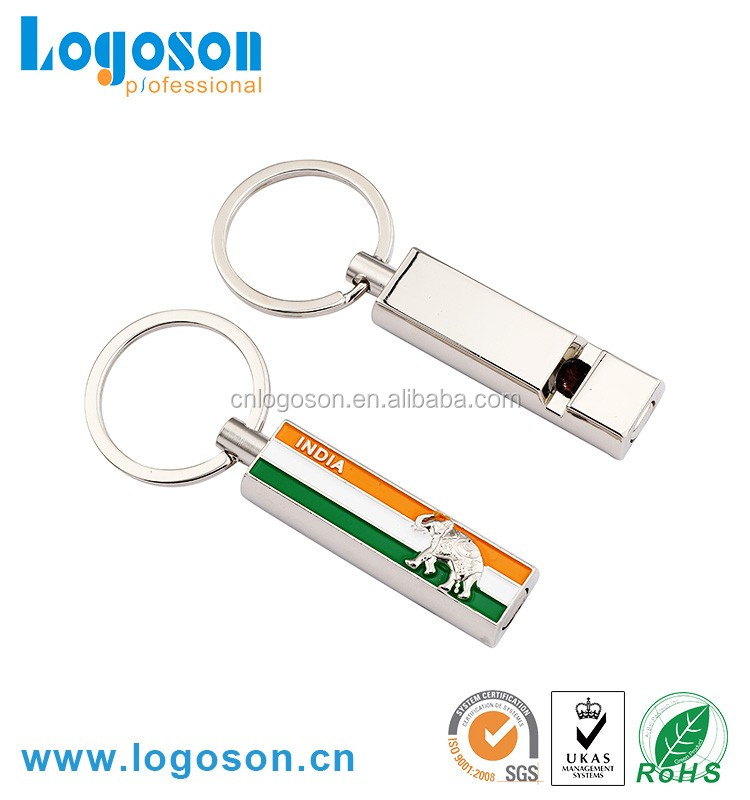 Custom design souvenir metal keychains from india