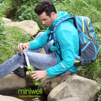 Miniwell water filter tritan plastic bottle