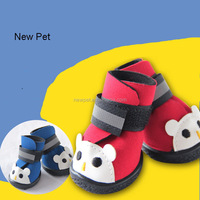Factory wholesale new arrival cartoon bear figure anti-skidding comfortable pet dog shoes puppy boots