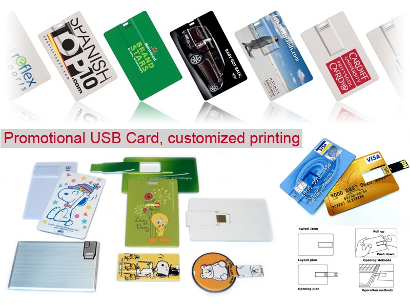 Free Design Ultra-Clear Business Credit Card USB Flash Drive with Custom Logo