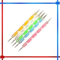 H0T003 double head multi-function colorful nail art dotting pen