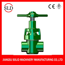 High Pressure soft seal stem Mud gate valve
