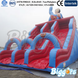 Double Lane China In Inflatable Jumping Slide With Repair Kit