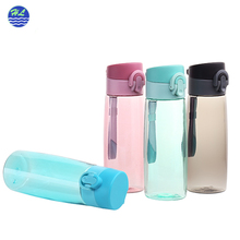 Portable high quality sports plastic 750ml bpa free reusable gym bottle water bottle