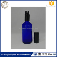 100ml Cobalt Blue Glass Perfume Spray Bottle Lotion Glass Bottle with Aluminum Pump