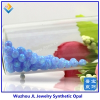 Free Shipping Synthetic 4mm Light Blue Round Opal Ball /Bead Gems for Fashion Jewelry