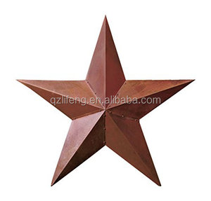 Large Rustic Texas Americana Style Barn Star Wall Hanging Deocration