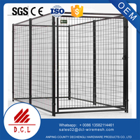 Metal Hot dip galvanized welded animal cages/dog kennel/large dog house