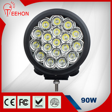Factory Price 7 Inch Round 90W LED Driving Light for 4 Wheel Walking Tractor