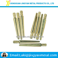 cnc machining high precision brass knurled dowel pin made in china