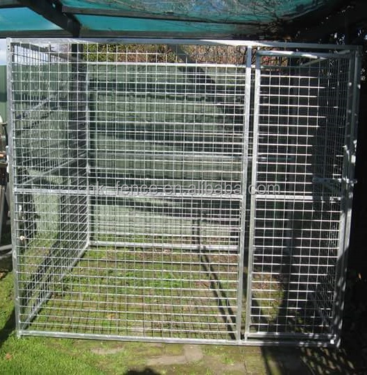 Professional produce welded iron fence large outdoor dog kennel and dog run play pen