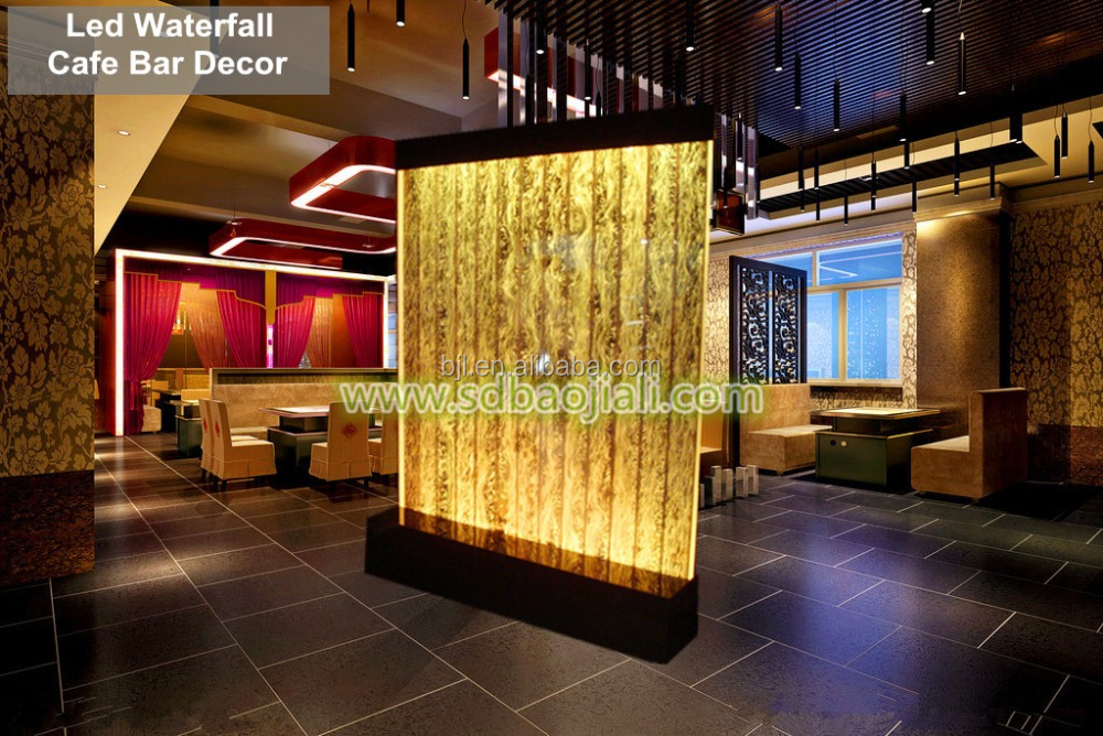Led aquarium wall waterfall hall decorations wedding buy for Aquarium waterfall decoration