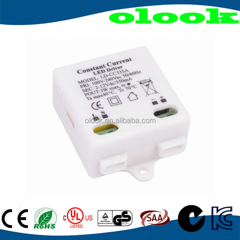 12v 350ma led driver with CE/ROHS/UL approved