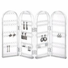 Beautify Jewelry Hanger Organizer - Foldable Acrylic Earring, Necklace & Bracelet Holder Display Screen Stand