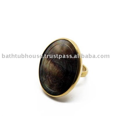 jewellery brass ring with sea shell bjr.005