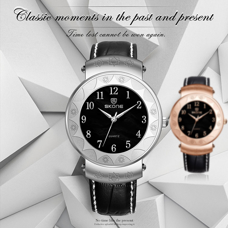 SKONE wholesale luxury leather watches for men