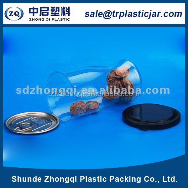 2017 hot selling food grade round plastic food can with easy open lid