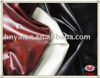 China professional high gloss synthetic leather fabric for furniture