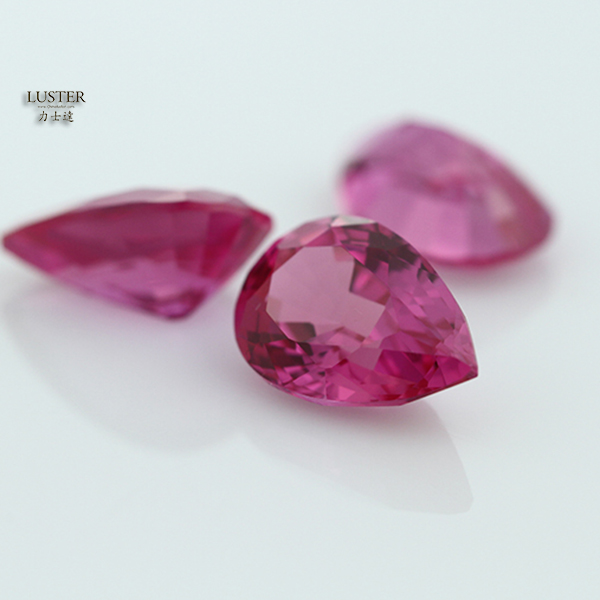 3# Pear Light Rose Asscher Cut Burma Ruby Gems