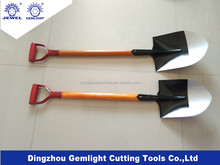 Round pointed head shovel s503 with wooden handle