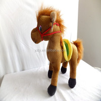 multicolor 25cm light brown soft plush pony toy